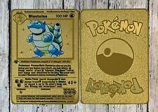 Pokemon Blastoise Shadowless 1st Ed. Gold Metal Custom Card
