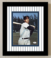 Joe Dimaggio Signed JSA COA 8X10 Framed Photo Auto Autographed New York Yankees