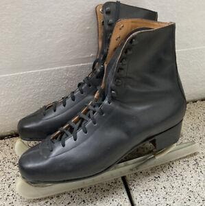 Polar Schlittschuhe Herren Gr.12 (46,5) schwarz Leder