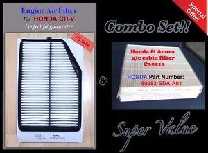 Premium Quality Engine & Cabin Air Filter for 2015-16 HONDA CRV CR-V & C35519