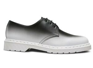 Dr Martens 1461 Fade Out Backhand Leather Shoes Men's US 14 Black White NEW $130