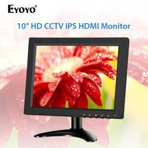 "Eyoyo 10"" Inch IPS HDMI Monitor with BNC HDMI VGA AV for CCTV DVD/VCD PC Gaming"