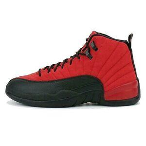 Jordan 12 Reverse Flu Game Retro Varsity Red Black men shoes