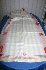 antik Mangeltuch Rolltuch 1900 mit Motiv Leinen 80x200 Antique Linen Mangelcloth