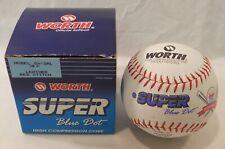 Worth Super Blue Dot softball ball Sx-2Rl Leather Red Stitch Coors Light