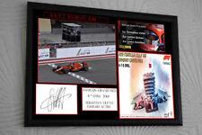"""Sebastian Vettel F1 Ferrari 2018 BAHRAIN Framed Canvas Print Signed """"Gift"""""""