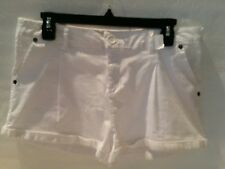 WOMENS SHORTS-AMBIANCE APPARED-SPANDEX-SIZE LARGE, MODERN FIT WHITE