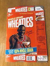 1991 Michael Jordan Wheaties Cereal Box Large size box (18 oz)  - Flattened