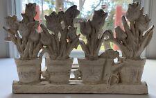 Vintage Cast Iron Hose Holder Hanger Wall Mounted Garden Theme