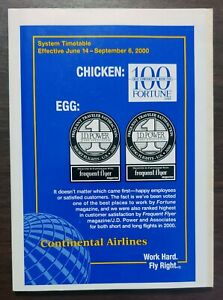 CONTINENTAL AIRLINES - SYSTEM TIMETABLE - 14 JUNE 2000