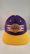 LAKERS PURPLE/GOLD BILLBOARD STYLE FLAT VISOR STRUCTURED SNAPBACK CAP BY ADIDAS
