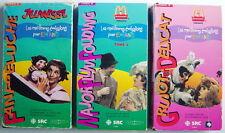 3 CASSETTES VHS DE 1995, ÉMISSIONS DE TÉLÉVISION POUR ENFANTS, DES ANNÉES 60-70