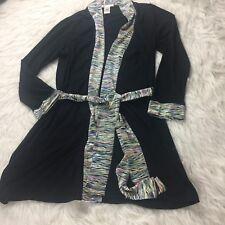 Coco La Rue Womens Cardigan Size L Black W Trim Ls Sweater Work Career SW1
