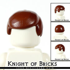 Lego Minifigure Hair BROWN 3901 Male Boy Cap Wigs Business Wig