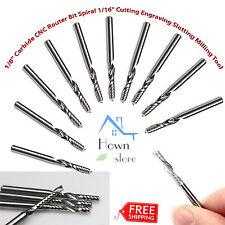 "1/8"" Carbide CNC Router Bit Spiral 1/16"" Cutting Engraving Slotting Milling Tool"