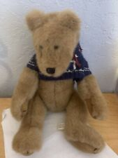 """Vintage Boyds Bobbie Jo 18"""" Bubba Bear Fully Jointed, Including Face"""