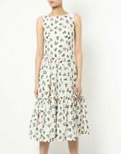 Molly Goddard 161542 Women's Print Casual A-Line Dress Floral/Cream Sz. 4 US