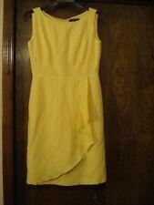 ALEX MARIE Yellow Linen Sleeveless Dress, SZ - 8