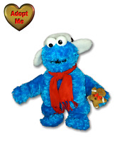 Gund Christmas Sesame St. Cookie Monster With Gingerbread Man Stuffed Plush Toy