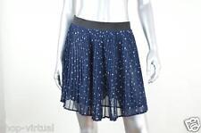 London Jean New Blue Chiffon Pleated Lined Mini Skirt MSRP $49 Size 12