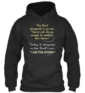 Christian Women Devil Whispered Storm Standard College Hoodie - Poly/Cotton