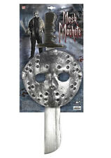 Set Maschera Hockey E Machete Jason Voorhees Venerdi' 13 Carnevale Halloween