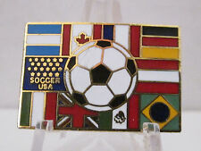 Soccer USA Pin,Argentina,Austria,Brazil,Canida,France,Germany,Italy,Mexico,UK