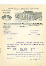 FACTURE 1922 VETEMENTS POUR DAMES G. COUTURIER 76 FECAMP