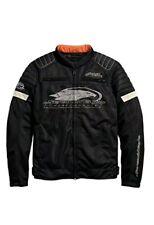 Harley-Davidson Men's Large Motorcycle Screamin' Eagle Mesh Riding Jacket Black