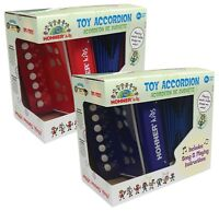Hohner Kids Children's Toy Button Accordion in Red UC102R or Blue UC102B - T866
