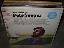 PETE SEEGER world of ( folk ) - 2lp - SEALED - PROMO -