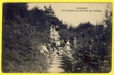 cpa 93 - LIVRY GARGAN (Seine Saint Denis) Les Escaliers de la MONTÉE du TEMPLE