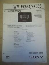 Sony Service Manual~WM-FX551/FX553 Walkman Radio Cassette Player~Original~Repair
