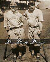 NY Yankees Babe Ruth & Lou Gehrig 8x10 Photo Print Wall Art Decor (C31)