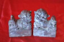 Old Feng Shui Chinese Stone Fu / Foo Dog Temple Lions…  beautiful detail...