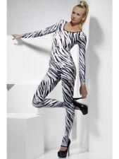 CATSUIT SEXY COSTUME Extensible sous-vêtements motif zèbre semi-transparent