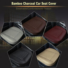 1× 3D Car SUV PU Leather Seat Cover Breathable Bamboo Charcoal Cushion Black Pad