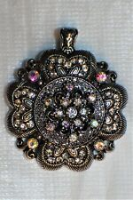 Treasures, LTD Magnetic Flower Pendant Silver AB Crystal