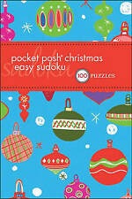 Pocket Posh Christmas Easy Sudoku: 100 Puzzles, The Puzzle Society, Very Good co