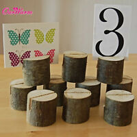 50xRustic Wooden Card Holder Table Number Place Card Stand Wedding Banquet Decor