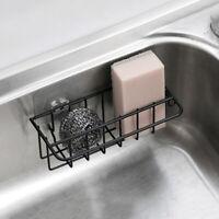 Kitchen Bathroom Sponge Sink Storage Rack Holder Organizer Strainer Suction Tidy