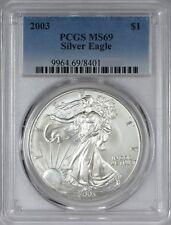 2003 American Silver Eagle PCGS MS69 - Twenty Coins