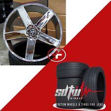 """24"""" Dub Baller S115 Chrome Wheels w Tires fits Chevy GMC 1500 Yukon Sierra Ford"""