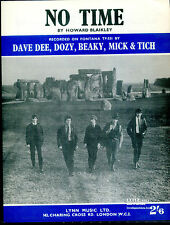 Dave Dee, Dozy, Beaky, Mich & Tich : No Time : original UK 1960's Sheet Music
