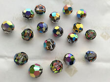 24 Swarovski #5000 8mm Crystal Vitrail Medium Faceted Round Beads