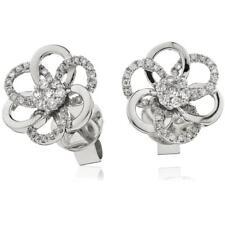 0.20ct F VS Diamond Daisy Earrings in 18ct White Gold Flower Design