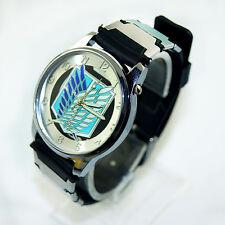 Anime Attack On Titan Survey Corps Quartz Watch Bracelet Wrist Watch Hollow New
