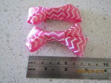 Pink stripe sliky hair clips made by me :) dance gift party