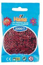 2 000 Beads Mini (Small Beads Ø2 , 5 MM) Burgundy - Hama