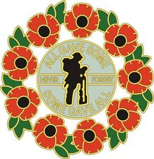 REMEMBRANCE SUNDAY POPPY CAR WINDOW STICKER - SOLDIER AND WREATH